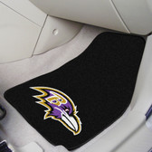 "Baltimore Ravens 2-piece Carpeted Car Mats 17""x27"""