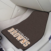 "Cleveland Browns 2-piece Carpeted Car Mats 17""x27"""