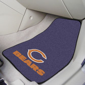 "Chicago Bears 2-piece Carpeted Car Mats 17""x27"""