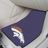 "Denver Broncos 2-piece Carpeted Car Mats 17""x27"""