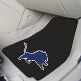 "Detroit Lions 2-piece Carpeted Car Mats 17""x27"""
