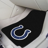 "Indianapolis Colts 2-piece Carpeted Car Mats 17""x27"""