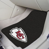 "Kansas City Chiefs 2-piece Carpeted Car Mats 17""x27"""