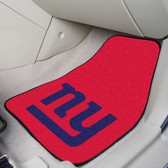 "New York Giants 2-piece Carpeted Car Mats 17""x27"""