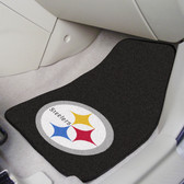 "Pittsburgh Steelers 2-piece Carpeted Car Mats 17""x27"""