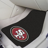 "San Francisco 49ers 2-piece Carpeted Car Mats 17""x27"""