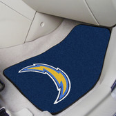 "San Diego Chargers 2-piece Carpeted Car Mats 17""x27"""