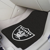 "Oakland Raiders 2-piece Carpeted Car Mats 17""x27"""