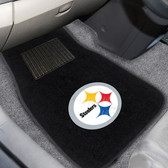 "Pittsburgh Steelers 2-piece Embroidered Car Mats 18""x27"""