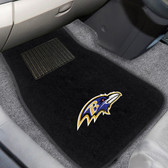 "Baltimore Ravens 2-piece Embroidered Car Mats 18""x27"""