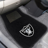 "Oakland Raiders 2-piece Embroidered Car Mats 18""x27"""