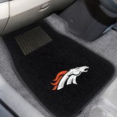 "Denver Broncos 2-piece Embroidered Car Mats 18""x27"""