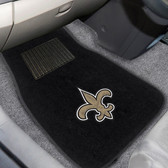 "New Orleans Saints 2-piece Embroidered Car Mats 18""x27"""