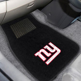 "New York Giants 2-piece Embroidered Car Mats 18""x27"""