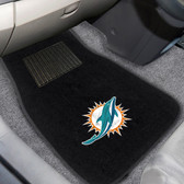"Miami Dolphins 2-piece Embroidered Car Mats 18""x27"""