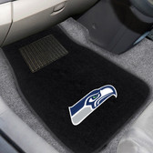 "Seattle Seahawks 2-piece Embroidered Car Mats 18""x27"""