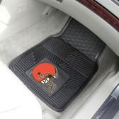 """Cleveland Browns Heavy Duty 2-Piece Vinyl Car Mats 17""""x27"""""""