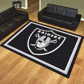 Oakland Raiders 8'x10' Rug