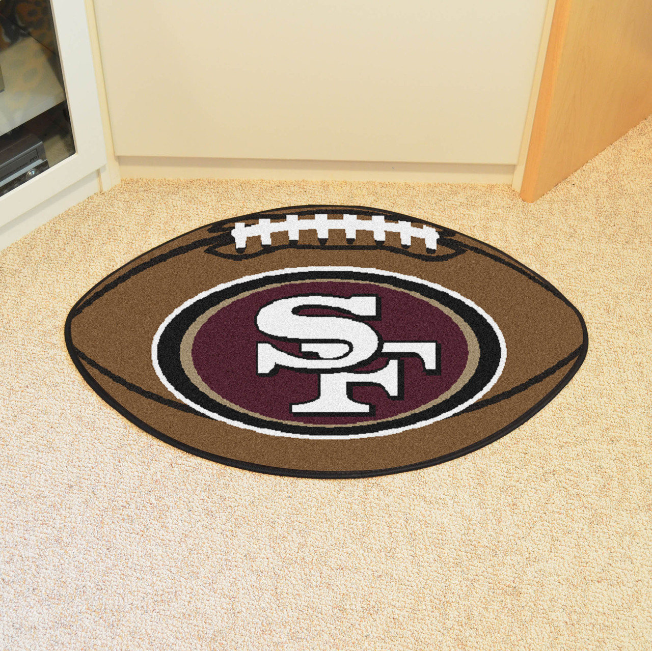 San Francisco 49ers Football Rug 20 5 Quot X32 5 Quot Biggsports