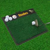 "Pittsburgh Steelers Golf Hitting Mat 20"" x 17"""
