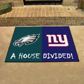 "Philadelphia Eagles/New York Giants House Divided Rugs 33.75""x42.5"""