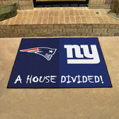 "New England Patriots - New York Giants House Divided Rugs 33.75""x42.5"""
