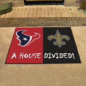 """NFL- Houston Texans - New Orleans Saints House Divided Rugs 33.75""""x42.5"""""""