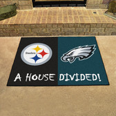 """Steelers/Eagles House Divided Rugs 33.75""""x42.5"""""""