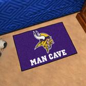 "Minnesota Vikings Man Cave Starter Rug 19""x30"""