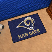 "St. Louis Rams Man Cave Starter Rug 19""x30"""