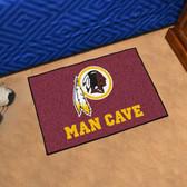 "Washington Redskins Man Cave Starter Rug 19""x30"""