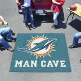 Miami Dolphins Man Cave Tailgater Rug 5'x6'