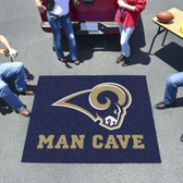 St. Louis Rams Man Cave Tailgater Rug 5'x6'