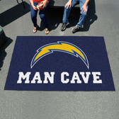 San Diego Chargers Man Cave UtliMat Rug 5'x8'