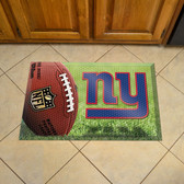 """New York Giants Scraper Mat 19""""x30"""" - Ball"""