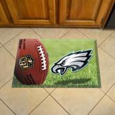 "Philadelphia Eagles Scraper Mat 19""x30"" - Ball"