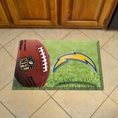 "San Diego Chargers Scraper Mat 19""x30"" - Ball"