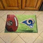 "St Louis Rams Scraper Mat 19""x30"" - Ball"