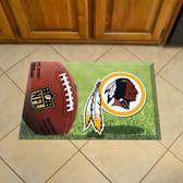"Washington Redskins Scraper Mat 19""x30"" - Ball"