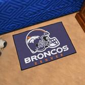"""Denver Broncos Starter Rug 19""""x30"""""""