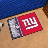 """New York Giants Uniform Inspired Starter Rug 19""""x30"""""""