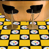 "Pittsburgh Steelers Carpet Tiles 18""x18"" tiles"