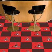 """Cleveland Browns Carpet Tiles 18""""x18"""" tiles"""