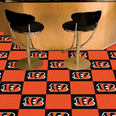 "Cincinnati Bengals Carpet Tiles 18""x18"" tiles"