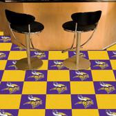 """Minnesota Vikings Carpet Tiles 18""""x18"""" tiles"""