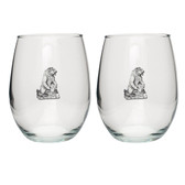 Grizzly Bear Stemless Wine Glass (Set of 2)