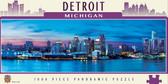 Detroit 1000 Piece Panoramic Puzzle