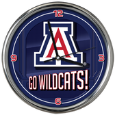 Arizona Wildcats Go Team! Chrome Clock