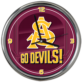 Arizona State Sun Devils Go Team! Chrome Clock