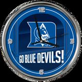 Duke Blue Devils Go Team! Chrome Clock